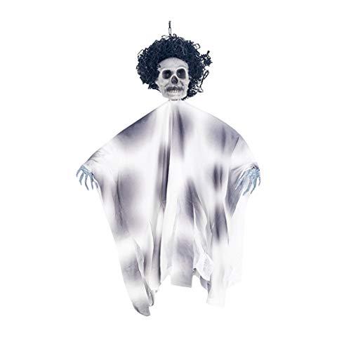WQIANGHZI Halloween-bar KTV Große Dekorative Requisiten Haunted Haus Geheimen Raum Terror Schädel Hängende Geisteranhänger Tür Hängend - Hängende Deko (Mit Einem Ball Für Erwachsene Cinderella Kostüm)