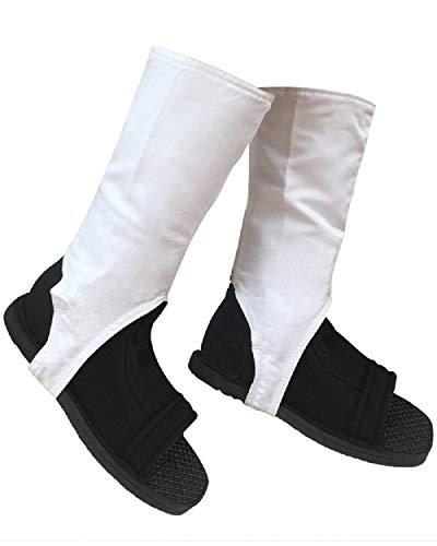 DAZCOS Damen US-Größe Ninja Cosplay Schuhe mit weißen äußeren Abdeckungen 11 M US Schwarz