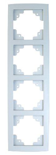 UNITEC 43855 Abdeckrahmen 4-Fach, Imola, Serie 303, Silber