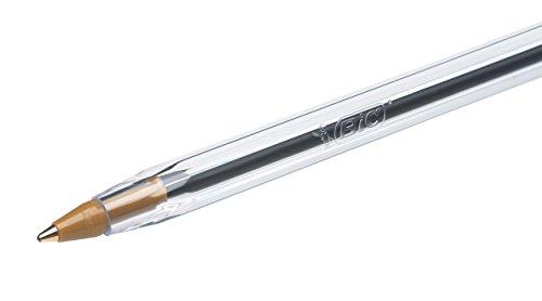 BiC Cristal medium – Bolígrafo de punta redonda, color azul, pack de 4 unidades