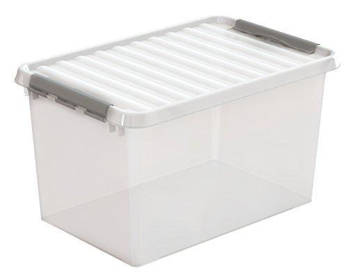Sunware Q-Line Caja 62L, 600x 400x 340mm transparente/plata