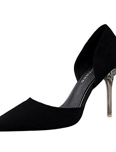 WSS 2016 Chaussures Femme-Décontracté-Noir / Rose / Blanc / Argent / Or-Talon Aiguille-Talons-Talons-Laine synthétique silver-us5.5 / eu36 / uk3.5 / cn35