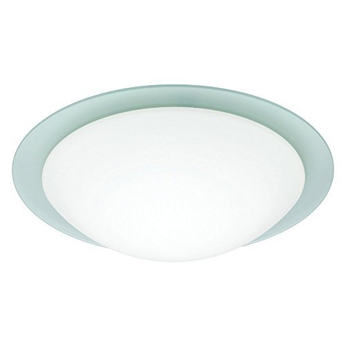 Besa Lighting 977225C 1X60W A19 Ring 13 Ceiling Flush Mount with Frost Glass, White Finish by Besa - Besa Mount