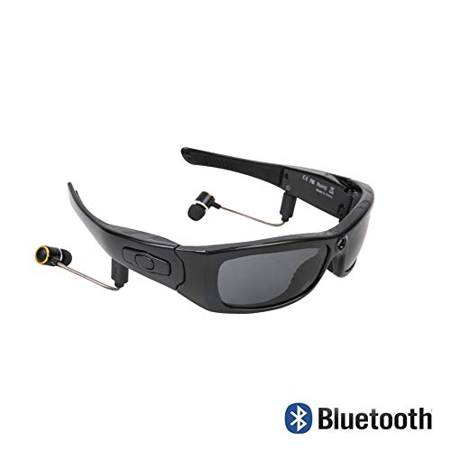 HM2 HD1080P Bluetooth MP3 Player Sonnenbrille Kamera Headset Foto Video DV Camcorder für Outdoor Mini Kamera Brille - Schwarz