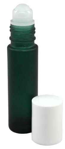 10-ml-1-3-fl-oz-verde-di-vetro-glassato-olio-essenziale-roll-on-bottiglie-confezione-da-4