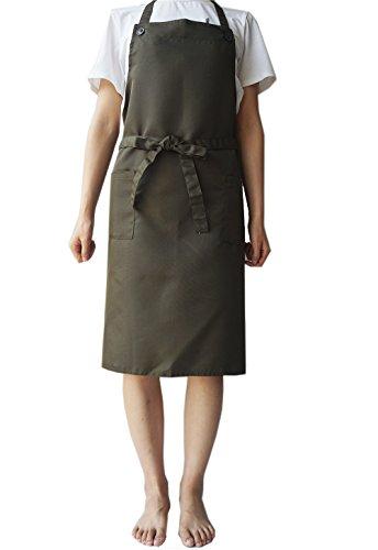 LeerKing Kochschürze Latzschürze Küchenschürze Arbeitsschürze Grillschürze Pärchenschürze für Frauen und Männer 83*93.5cm AG
