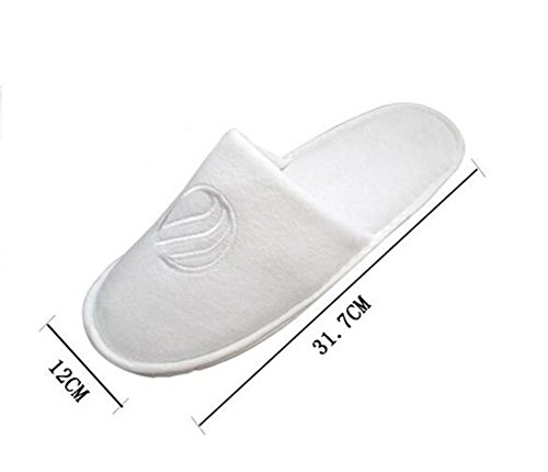Pantofole Spa una volta aperta o chiusa punta per scegliere un hotel spessa Home Hotel Yoga Travel 10 paia White