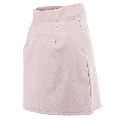 Frauen-Minirock mit Öko-Ledern verschiedenen Farben-Druck-Reißverschluss-hoher Taille Sexy New Pink