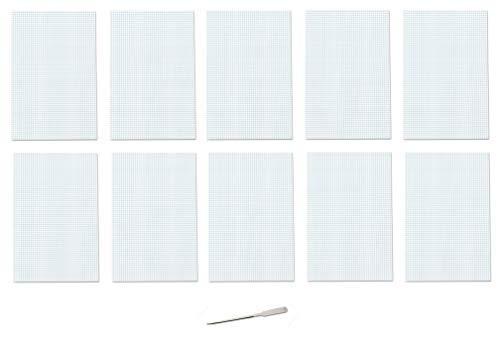 Ampad 22-037 Quadrille-Block, doppelseitig, 11 x 17 cm, Weiß, 4 x 4 Quadlinien, 50 Blatt, 1 Block weiß (Graph-pad-11x17)