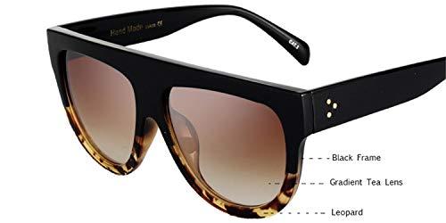 Daawqee Gafas de sol,Gafas para fiestas,Woman Flat Top Oversized Sun Glasses Cat Eye Sunglasses Brand Designer De Sol K9250 11