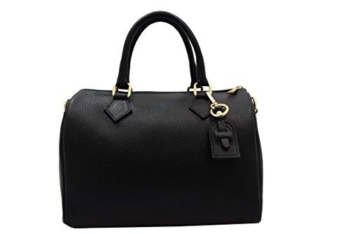 Handtasche Leder A.131 schwarz