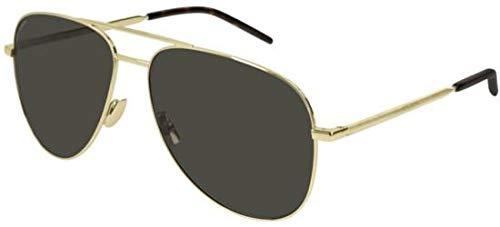 Yves Saint Laurent Sonnenbrillen (CLASSIC-11-FOLK 004) gold - bedruckt gold - grau-braun