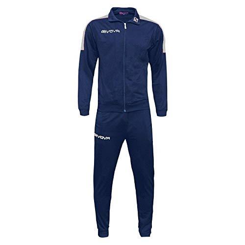 givova Tuta Revolution TR033 Fitness Sport Uomo Blu Bianco