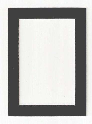 Anthrazit–Dunkelgrau säurefrei Bilderrahmen Matte 5 x 7 grau