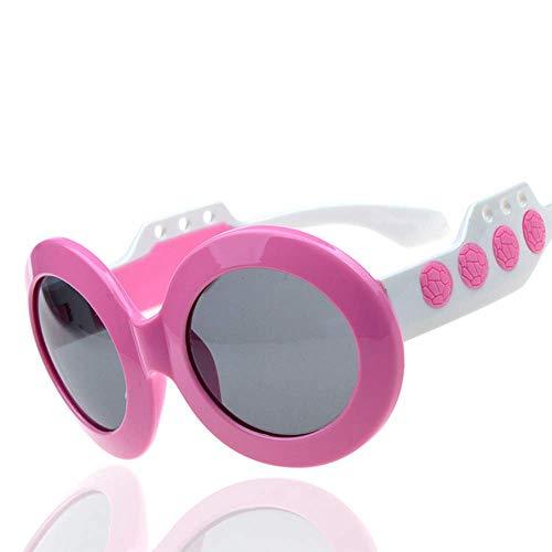 SYR Kinder polarisieren Jungen und Mädchen polarisierte Sonnenbrillen Runde Ball Sonnenbrillen Gezeiten,Pink