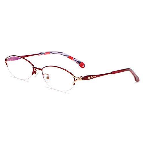 Damen-Lesebrille, Blaulicht-Schutzbrille, multifokale Dioptrien-Gleitsichtgläser, Anti Eyestrain/Anti Scratch/Anti Smudgy, Frauen Freundin Mädchen Mutter Unisex