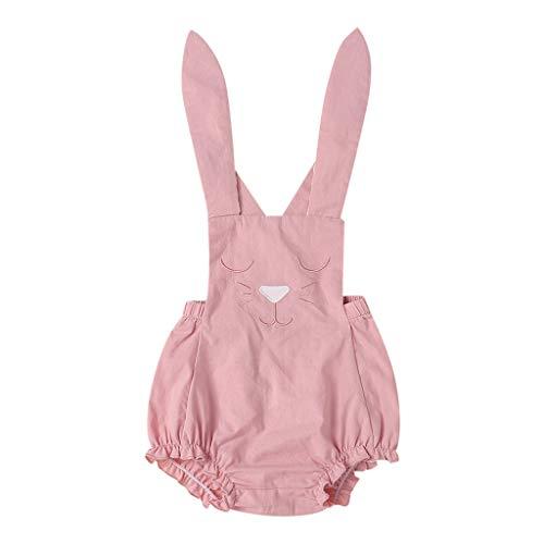 Snakell Strampler Baby Neugeborenes Säuglingsbaby-Mädchen-Häschen-Kaninchen-Spielanzug-Bodysuit-Kleidungs-Outfits Cartoon Kaninchengurte