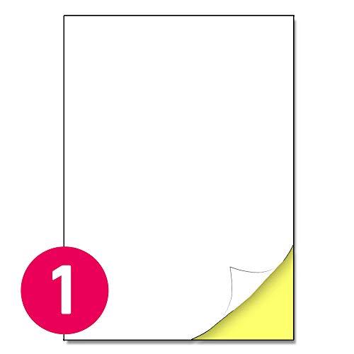 210 x 297 mm, 25 fogli, 25 etichette, A4 Etichette adesive bianche opaco - 1 etichetta per foglio