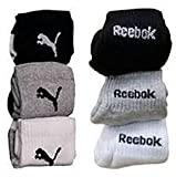 #1: Reebok Unisex Solid Ankle Length Socks (Pack of 6)