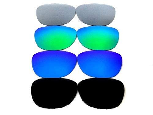 Galaxis Ersatzgläser für Oakley Frogskins schwarz/blau/grün/Titan 4 Paare - S, Regular