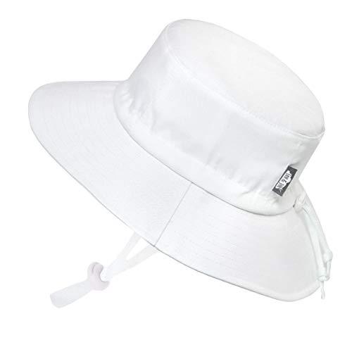 d70f35d42 Jan & Jul Kids Summer Quick Dry Swim Sun Hats 50 UPF, Adjustable Foldable  Packable (L: 2-5Y, White)
