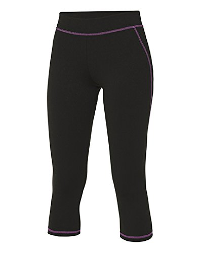 Pantalon été 3/4 Capri Femme Cool Capri 3/4 Pants Jet Black/Hot Pink