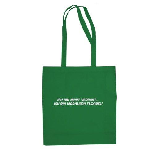 Moralisch Flexibel - Stofftasche / Beutel Grün