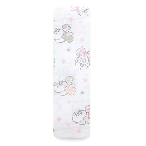 aden by aden + anais Disney Baby Minnie bubble, Pucktücher, Musselin aus 100% Baumwolle, 112cm X 112cm