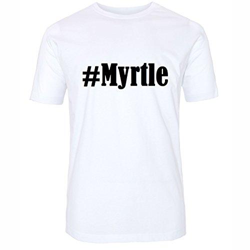 T-Shirt #Myrtle Größe 4XL Farbe Weiss Druck schwarz