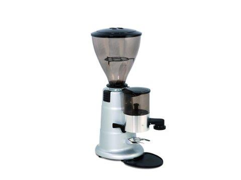 Macap MXA MXA Kaffeemühle silber Scheibenmahlwerk mit Dosierbehälter