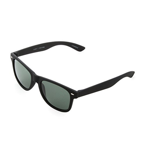 Laurels UV Protected Wayfarer Unisex Sunglasses -(WEG-0101|Black Lens )