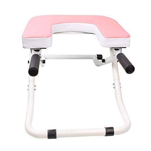 TQSDYY Starter Kit Multi-Funktions-Inverted Hilfs Stuhl, Haupt Inverted Folding Inverted Hocker, Inverted Maschine Fitnessgeräte, Geeignet for Haus, Büro, Sporthalle, usw. (Color : Pink)