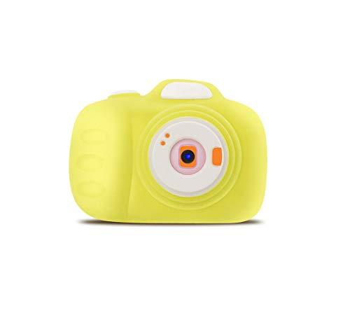 WOGQX Kinder Kamera Geschenk 1200W Pixel Autofokus 2,3 Zoll HD-Display Lademodus Grün Rosa Lila Gelb Geeignet Für Jungen Und Mädchen Als Geburtstagsgeschenk, Gelb
