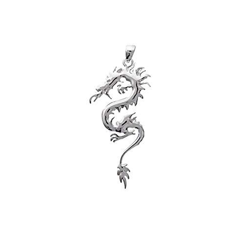 NKlaus 5089 - Ciondolo in argento Sterling 925 a forma di drago con amuleto...