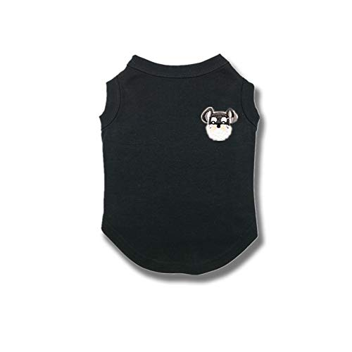 Gatto Piccolo (Pet vestiti Cute Ricamo morbido Cotone antibatterico Anti-Palla Vest t-Shirt Taglia M-3XL per cani di Gatto Piccolo Medio)