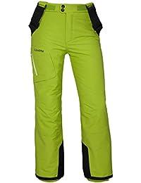 SCHÖFFEL Trägerhose Eddi - Pantalones de esquí para niño, color azul / amarillo, talla 8 años (128 cm)