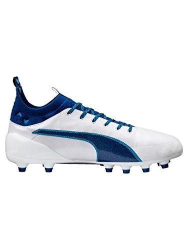 Puma Evotouch 1 Ag, Chaussures de Football Compétition Homme blanc/bleu