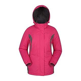 Mountain Warehouse Moon Damen-Skijacke - Schneedicht, Mikrofaser-Isolierung, Winddichte Winterjacke, warm, verstellbare Kapuze - Ski-Bekleidung für den Snowboard-Urlaub Rosa DE 44 (EU 46)