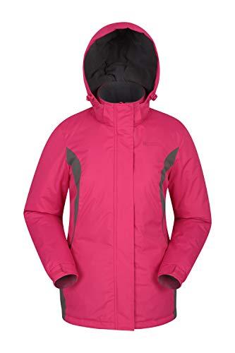 Mountain Warehouse Moon Damen-Skijacke - Schneedicht, Mikrofaser-Isolierung, Winddichte Winterjacke, warm, verstellbare Kapuze - Ski-Bekleidung für den Snowboard-Urlaub Rosa DE 48 (EU 50)