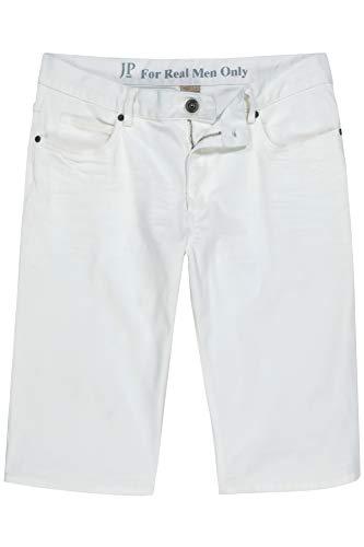 JP 1880 Herren große Größen bis 70, Jeans-Bermuda, Saum zum Krempeln, 5-Pocket Klassiker, Bund mit Gürtelschlaufen, Normale Oberschenkel- und Beinweite, weiß 56 720248 20-56