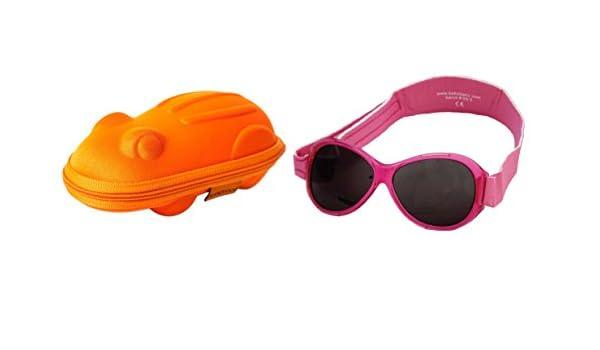 d56120584fc264 Lunettes de soleil BabyBanz Retro- Bébé 0 à 24 mois , Rose, et un étui  lunettes de soleil Yoccoes - en forme de Grenouille orange  Amazon.fr   Vêtements et ...