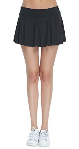 HonourSport Damen Tennisrock Skirt Minirock Sport Fitness Yoga Skort Falten XS-XL (Tennis-skort)