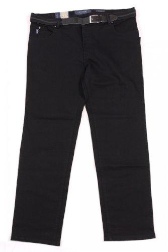Pionier Jeans Five-Pocket in Bauchgrößen, schwarz Schwarz