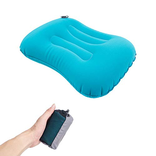 XOSHX Tragbares aufblasbares Kissen Aufblasbares faltbares Luftkissen Nackenkissen für das zervikale Gesundheitswesen -