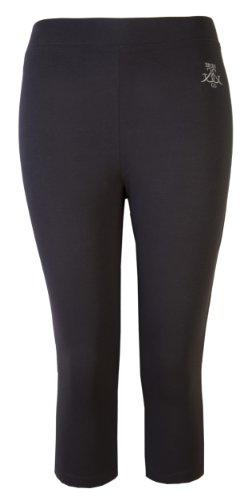 Damen Schwarz Damen Leggings Hohe Taille Hosen Ultimate Crop Work Out Gym Yoga Dance Brody & Co. Gr. 36, schwarz (Zumba Höschen)