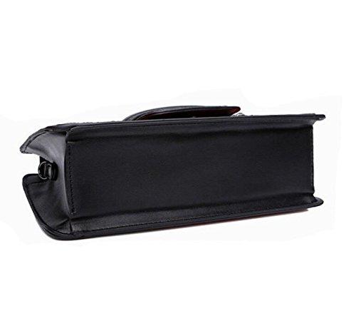 Damen Handtasche Retro Geprägte Gepäck Schultertasche Messenger Bag Black