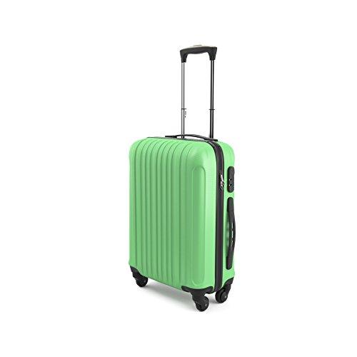 """Trolley da Cabina Bagaglio a Mano Sammy 20"""", Capienza 43 Litri, 55 x 35 x 20cm,Ideale a bordo di EasyJet Ryanair Alitalia Meridiana WizzAir, Trolley in ABS e Policarbonato, Verde"""