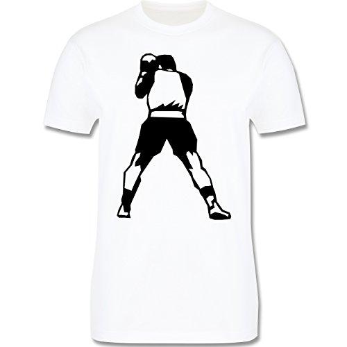Kampfsport - Boxen - Herren Premium T-Shirt Weiß