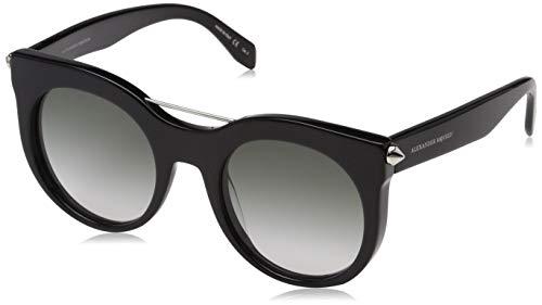 Alexander McQueen Damen AM0001S 001 52 Sonnenbrille, Schwarz (001-Black/Grey),