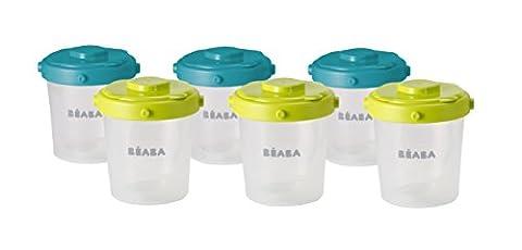 BEABA 01/912482 Set mit 6 Portionsbechern je, 200 ml